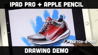 getlinkyoutube.com-iPad Pro Shoe Sketch using Apple Pencil and Pro Create