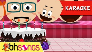 getlinkyoutube.com-Happy Birthday karaoke song with lyrics | Family Style | Nursery Rhymes | Ultra HD 4K Music Video