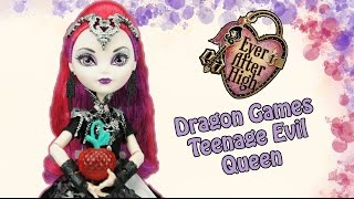 getlinkyoutube.com-Ever After High Dragon Games Teenage Evil Queen Mira Shards Doll Review