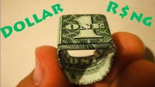 getlinkyoutube.com-How to Make an Origami Dollar Ring (Moneygami)