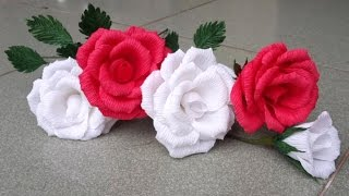 ABC TV | How To Make Rose Paper Flower From Crepe Paper - Craft Tutorial