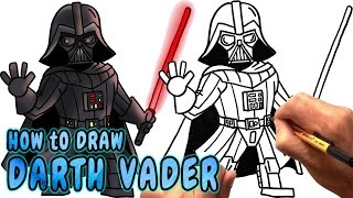 getlinkyoutube.com-How to Draw Darth Vader - Easy Step by Step Drawing Lesson (NARRATED)
