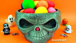 getlinkyoutube.com-HALLOWEEN Play Doh Surprise Eggs SPOOKY TOYS Thomas & Friends Minions Witch Shrek Moshi Monsters