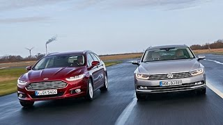 getlinkyoutube.com-Ford Mondeo Turnier vs. VW Passat Variant