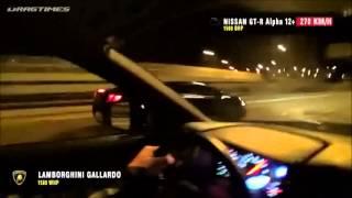 getlinkyoutube.com-Tuned Lamborghini Gallardo & Nissan GT-R vs. Russian Police