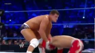 getlinkyoutube.com-SIN CARA  & REY MYSTERIO VS THE MIZ & CODY RHODES WWE SMACK-DOWN