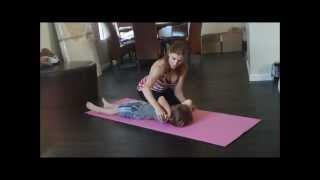getlinkyoutube.com-Gymnastics Lesson For Your Child With Coach Meggin At Home! (Professional Gymnastics Coach)