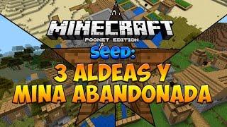 getlinkyoutube.com-MINECRAFT PE 0.12.0: Seed con 3 aldeas y Mina Abandonada!! Para Minecraft Pocket Edition 0.12.0
