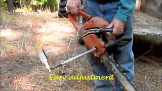 getlinkyoutube.com-How To Cut Firewood With The Woodcutter's Friend