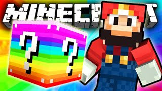getlinkyoutube.com-Minecraft: RAINBOW Lucky Block MARIO CHALLENGE!