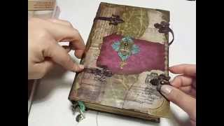 getlinkyoutube.com-Large Fairy Journal #junkjournals