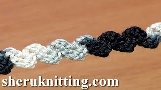 getlinkyoutube.com-Crochet Simple Zig-Zag Cord Tutorial 36 Single Crochet