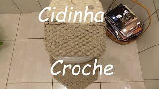 Croche-Peixe Jg Banheiro Tampo Vaso(4 Peças)Passo A Passo-Parte 1/2