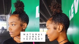 getlinkyoutube.com-HOW TO | Natural Curly Topknot | FabulousBre