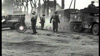 getlinkyoutube.com-US army trucks and armored vehicles roll through Altenkirchen, Germany during Wor...HD Stock Footage