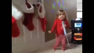 Baby singing uyyalo uyyalo song