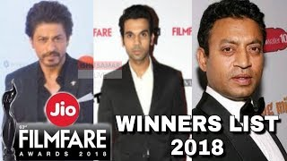 63rd Jio Filmfare Awards 2018 - FULL WINNERS LIST - Best Actor, Best Actress...
