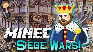 getlinkyoutube.com-Minecraft: DEFEND THE KING SIEGE WARS Mini-Game Challenge w/Mitch & Friends!