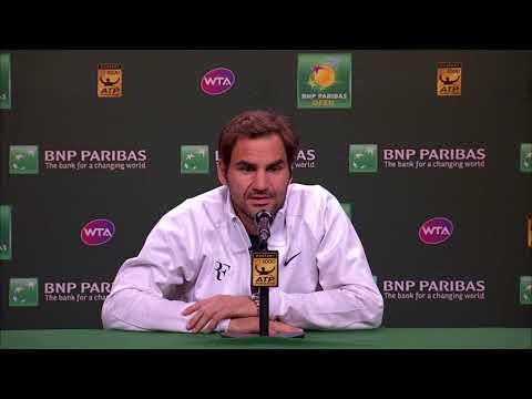 BNP Paribas Open 2018: Roger Federer 4R Press Conference