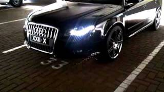 "getlinkyoutube.com-Audi A4 B7 LED Lights Custom Colour 19"" RS4 Wheels"