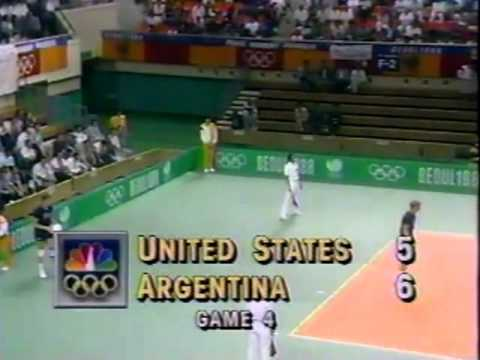 '88 Men's Olympic Volleyball: USA vs Argentina