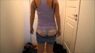getlinkyoutube.com-Pregnant // stripping // norwegian girl // belly // clothes