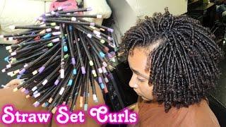 #561 - STRAW SET On NATURAL HAIR Style Demo | TheGriynThumb Salon