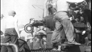 getlinkyoutube.com-Men rushing to battle stations and readying guns for firing aboard USS Nautilus u...HD Stock Footage