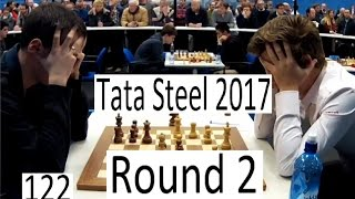 getlinkyoutube.com-Tata Steel 2017 - Round 2 with Carlsen-Wojtaszek