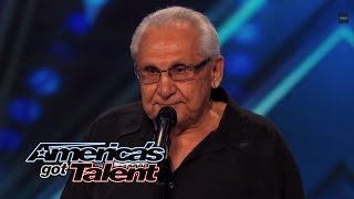 getlinkyoutube.com-Frank The Singer: 74-Year-Old Channels Frank Sinatra - America's Got Talent 2014