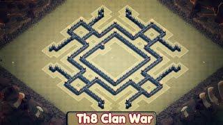 getlinkyoutube.com-Clash of Clans | Best TH8 War Base (KILLA) | Anti Air & Anti Hog [2015]