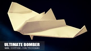 getlinkyoutube.com-Best Paper Planes: How to make a paper airplane that Flies | Ultimate Bomber