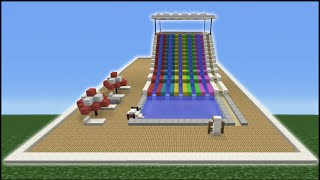 getlinkyoutube.com-Minecraft Tutorial: How To Make A Water Slide (Mini Water Park)