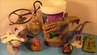 getlinkyoutube.com-1998 GODZILLA SET OF 9 TACO BELL KID'S MEAL MOVIE TOY'S VIDEO REVIEW
