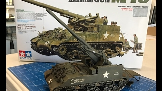 getlinkyoutube.com-Building the Tamiya 1/35  M40  Self Propelled 155mm  Gun
