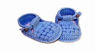 getlinkyoutube.com-DIY baby booties sandals //Vasilisa
