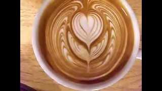"getlinkyoutube.com-IKECCI'S Latte Art ""wing tulip""2013.02.19 ラテアート"