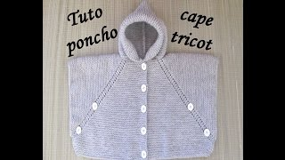 getlinkyoutube.com-TUTO PONCHO CAPE TRICOT  TOUTES TAILLES poncho cape knitting PONCHO DOS AGUJAS