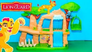 getlinkyoutube.com-LION GUARD Disney Lion Guard Pride Lands Kion Play Set Lion Guards Video Toy Unboxing