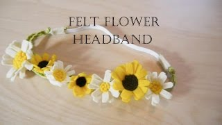 getlinkyoutube.com-How to make felt flower headband