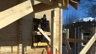 getlinkyoutube.com-Защита  оконных проемов строящегося дома от дождя и снега
