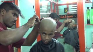 How To Shave Your Head With Straight Razor (Mottai) by RAJA,