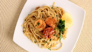 getlinkyoutube.com-Scallop Scampi over Linguine Recipe - Laura Vitale - Laura in the Kitchen Episode 534