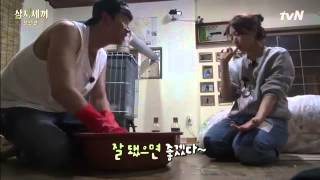 getlinkyoutube.com-ParkShinHye and Taecyeon at Kkakdugi Making
