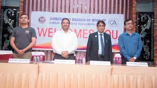 Ahmedabad Branch of WIRC of ICAI with CA Naresh Sheth in GST SEMINAR on 1st & 2nd October 2016.