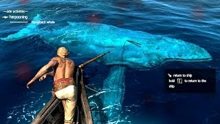 getlinkyoutube.com-Assassin's Creed 4 All Harpooning Activities & The White Whale ( Moby Dick )