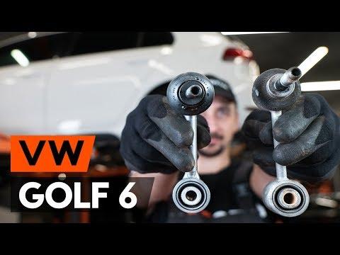 Как заменить переднюю тягу стабилизатора VW GOLF 6 (5K1) (ВИДЕОУРОК AUTODOC)