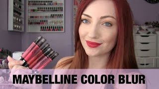 getlinkyoutube.com-NEW Maybelline Color Blur Matte Lip Pencils Review + Swatches