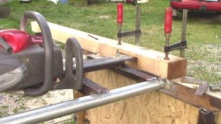 getlinkyoutube.com-Homemade Chain Mortiser (Using Chainsaw)