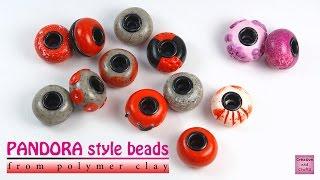 getlinkyoutube.com-Полимерная глина - брутальные бусины в стиле ПАНДОРА (Базовый урок) / PANDORA style beads